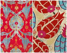 Caftans with Tulip motif - Turkish Tulip designs, textiles, and art - Get the look with Royal Design Studio stencils | Paint + Pattern