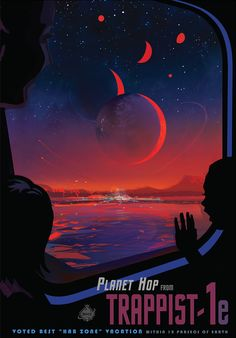Illustration from the planet's surface. Trappist-1 system