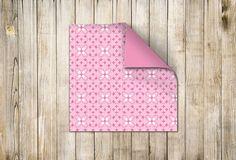 ☁ Designpapier 180 mm x 180 mm Rosa-Weiss (60715) www.s-chick.de ☁ #papier #scrapbooking #origami #basteln #papierbogen #paper #white #weiß #muster #pattern #rosa #pink