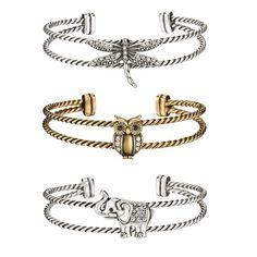 Antiqued Animal Cuff Bracelet