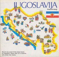 Vintage Maps: Yugoslavia Tourist Map