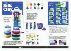 Silk Clay is een zelf hardend, zacht modelleer materiaal om mee te spelen of voor kunst en creativiteit. Silk Clay is klaar voor gebruik en heeft geen andere gereedschappen of accessoires nodig. Het is verkrijgbaar in vele kleuren.