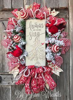 Cardinal Wreath Winter Wreath White Christmas Christmas