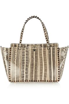 39371da0a604 Valentino - Rockstud medium elaphe trapeze bag