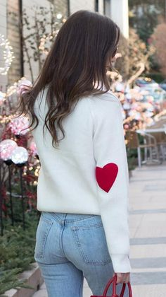 What can I say... I wear my heart on my sleeve. ❤️ Heart and Soul Patched Knit Sweater featured by elleoquentstyle