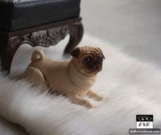Pug 5 cm   by BJD Pets (dolls.evethecat.com)