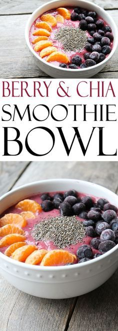 Learn how to make a smoothie bowl with this easy vegan recipe featuring blueberries, chia seeds and coconut water. It's the perfect, easy breakfast!