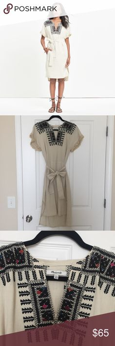 Madewell Dress Worn once, like new Madewell dress with embroidery. I usually wear a 0-2 in dresses and this fits perfectly. Madewell Dresses