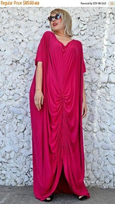 Check out this item in my Etsy shop https://www.etsy.com/listing/502314562/sale-fuchsia-maxi-dress-fuchsia-loose