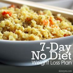 Go on the 7-Day No Diet Weight Loss Plan this week!  #7days #nodiet #weightloss