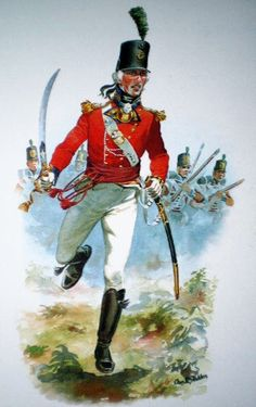 Officer 23rd Royal Welch Fusiliers carrying the 1803 Pattern saber