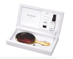 Balmain Paris Luxurious Golden Spa Brush Set Limited Edition.