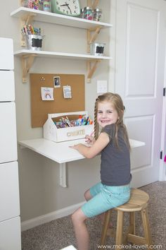 Ideas for a Shared Girls Bedroom (...finally complete!)   via www.makeit-loveit.com