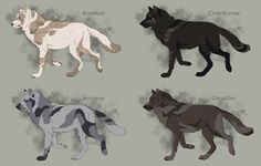 Semi-Realistic Wolf Adoptables Set 5 - CLOSED by Therbis on DeviantArt