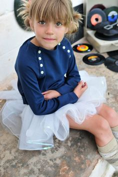 knit top and tutu