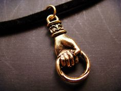 BDSM submissive - large day collar choker velveteen victorian fist slave pet jewellery jewelry light fetish kinky delicate