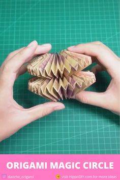 Easy origami for kids - how to make an origami magic circle Origami Toys, Instruções Origami, Origami Videos, Paper Crafts Origami, Origami Flowers, Origami Paper Folding, Cool Paper Crafts, Diy Crafts For Gifts, Diy Paper