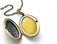 Perfume locket, solid perfume locket necklace, essential oil perfume