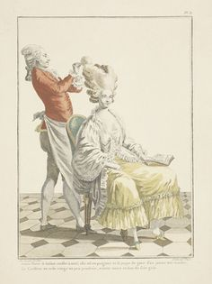 Applying the finishing touches, a print from 1778 (Paris)