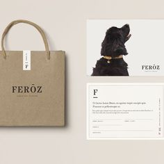 Modern papery and stationery design as well as additional merchandise material and packaging.
