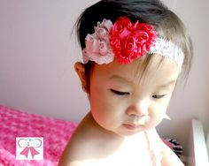 Valentines Headband Baby headband Petite Shabby by HappyBOWtique, $10.99