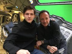 Tom Holland Spotted In Avengers Quinjet On Set