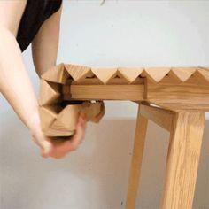 不著痕跡地延長桌面,履帶木頭桌布
