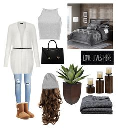 """Cozy "" by letsthinkpink ❤ liked on Polyvore featuring H&M, UGG Australia, MICHAEL Michael Kors, Madison Park, Alicia Adams, women's clothing, women, female, woman and misses"