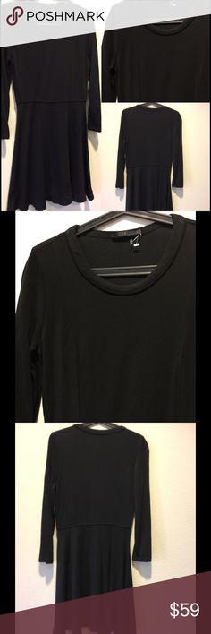 COS black jersey dress Sz small 💋 Black jersey dress long sleeve Sz small COS Dresses Mini