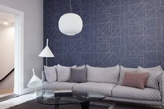 Designer wallpaper suppliers, Today Interiors create luxurious collections for the contract and domestic markets - Our Gentle Groove wallpaper collection 66560 Wallpaper Suppliers, Special Wallpaper, Path Design, Scandinavian Interior, Geometric Designs, Designer Wallpaper, Soft Colors, Modern Design, Furniture Design
