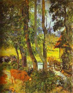 Cattle drinking - Paul Gauguin 1885
