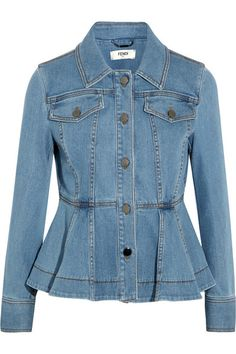 Blue stretch-denim Button fastenings through front 98% cotton, 2% elastane Machine wash or dry clean Made in Italy