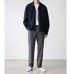 Japan Men Fashion, Korean Fashion Men, Mens Fashion, Fashion Outfits, Stylish Mens Outfits, Simple Outfits, Herren Outfit, Minimal Fashion, Men Looks