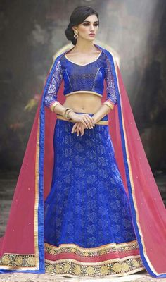 Make your own fashion statement with this blue color net a line lehenga cholie. The lace and resham work appears to be like chic and fantastic for any occasion.  #bluecolorlehengacholi #indiancholidesign #lehengacholis