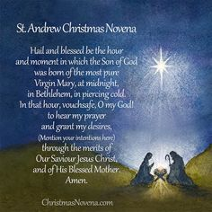 The Meaning and Misconceptions of The Saint Andrew Christmas Novena Advent Prayers, Andrew The Apostle, Christmas Prayer, Christmas Ideas, First Sunday Of Advent, Christmas Preparation, Holy Rosary, Beautiful Prayers, Days Until Christmas