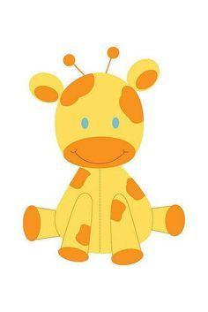Yellow Baby Giraffe Clipart