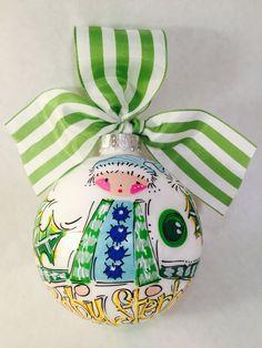 Boy Elf Ornament, Personalized Elf Ornament