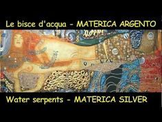 Klimt - Bisce d'acqua - MATERICA - Argento | Stampe di arte, stampe su tela