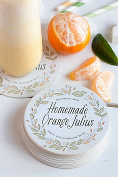 Style Your Soirée - Shop Coasters! Fruit Drinks, Non Alcoholic Drinks, Healthy Drinks, Beverages, Orange Julius, Summertime Drinks, Summer Drinks, Fresco, Coffee Punch