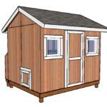 This step by step woodworking project is about free goat shed plans. I have designed this simple goat shelter, so you can keep your animals warm and protected from the elements. Large Chicken Coop Plans, Large Dog House Plans, Duck House Plans, Extra Large Dog House, Building A Chicken Coop, Backyard Chicken Coops, Chickens Backyard, Backyard Cottage, Goat Shed