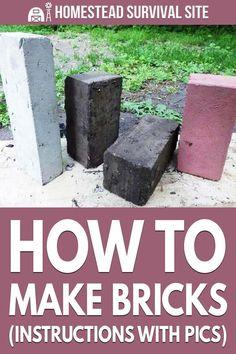 Survival Life Hacks, Survival Prepping, Survival Skills, Concrete Bricks, Papercrete, Handyman Projects, Indoor Water Garden, How To Make Clay, Homestead Living