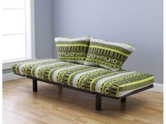 Newegg.Com - Hennepin Contemporary Daybed Futon Lunger with Black Metal Frame, Includes Two Pillows