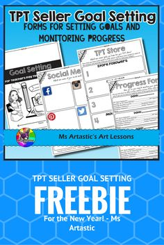As a TPT Seller, it is important to set goals and reflect on your practice as a business owner to help you and your store grow. Goal setting is a great way to keep you on track for improving and growing your store each month.  This is a great journal to print of and add to a TPT binder each year as part of your New Year's goal setting for TPT. But you don't have to use it only in the New Year... Any time is a great time to set goals and think about how you will get to your TPT dreams!