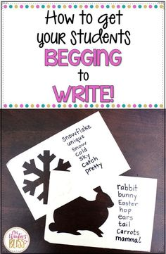 How to get Your Students Begging to Write! Your elementary students will love these writing prompts. - Mrs. Winter's Bliss  #writing #mrswinterbliss #firstgrade