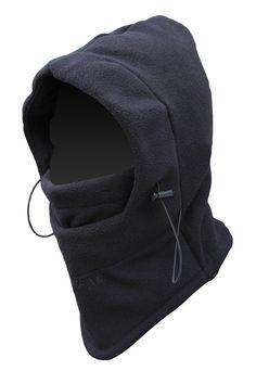 FULL FACE Mask Fleece Hood Tactical Balaclava Black