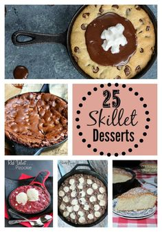 Easy Skillet Desserts-There's just something about scooping  warm fruit cobblers, yummy cookies,  and  fudgy brownies out of  a skillet!