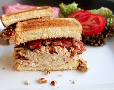 Hands down one of the BEST chicken salads I have ever made. TE  Pecan Bacon Chicken Salad Sandwich - Creole Contessa