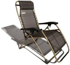 Strathwood Basics Anti-Gravity Adjustable Recliner Chair, Dark Brown with Champagne Frame by Strathwood. $64.99. Save 35%!