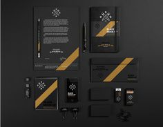 Black Branding Mockup - Designed by Synthetique