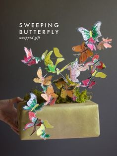 Make this flying butterfly gift wrap.